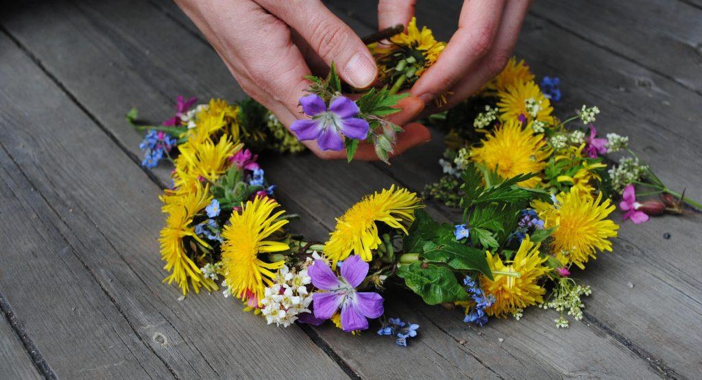Blumenkranz für Midsommar