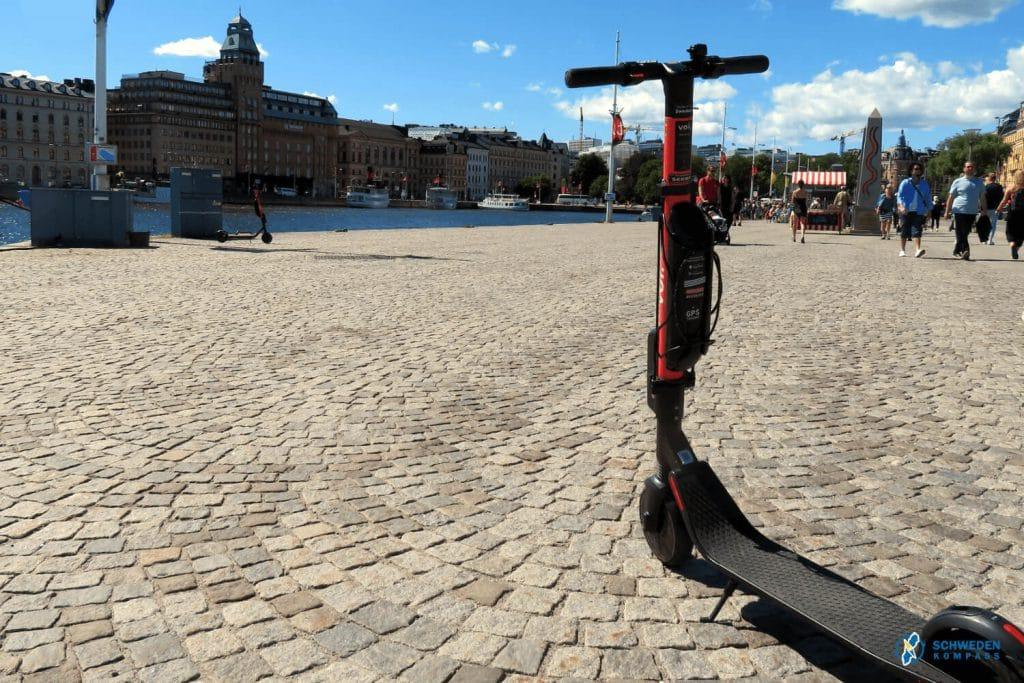 E-Sccoter in Stockholmer Innenstadt