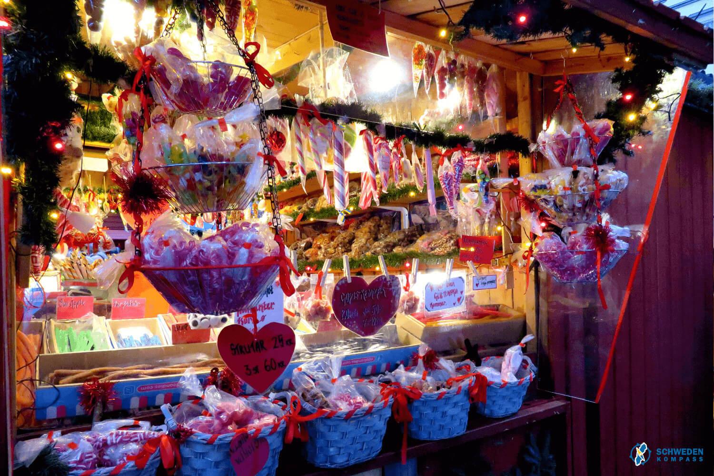 Stand mit Süßigkeiten