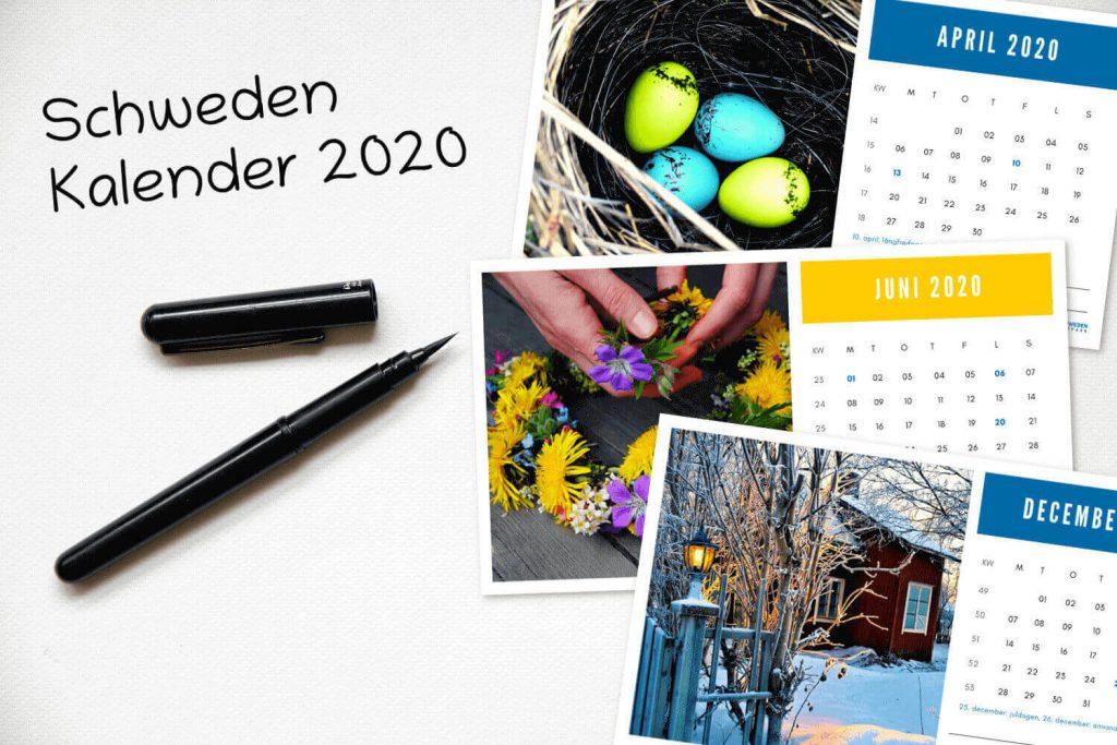 Kalender Schweden 2020 - Vorschau