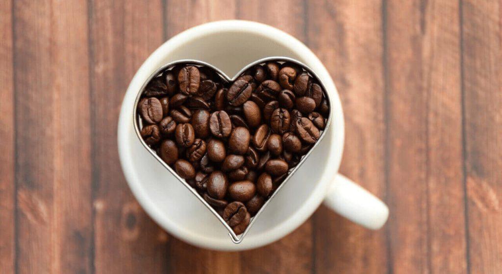 Kaffeetasse in Herzform