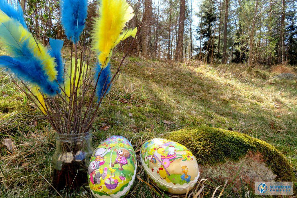 Osterstrauß in schwedischen Farben