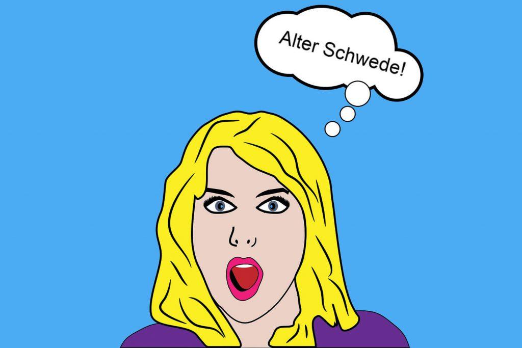 """Sprechblase """"Alter Schwede"""""""