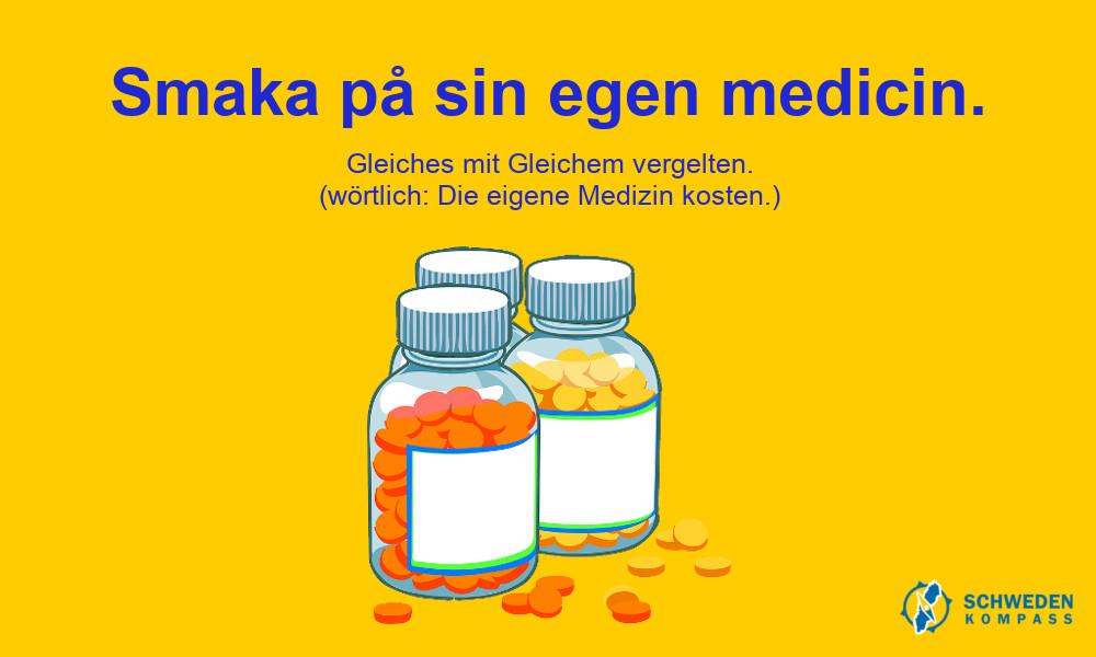Infografik - Smaka på sin egen medicin.