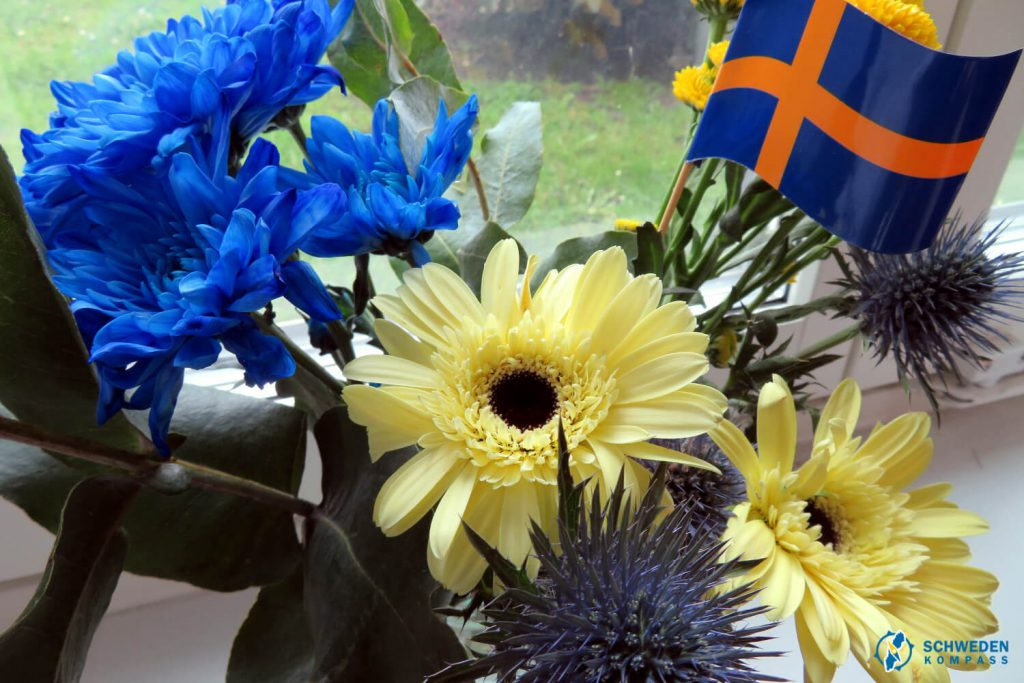 Blumen zum Nationalfeiertag Schweden