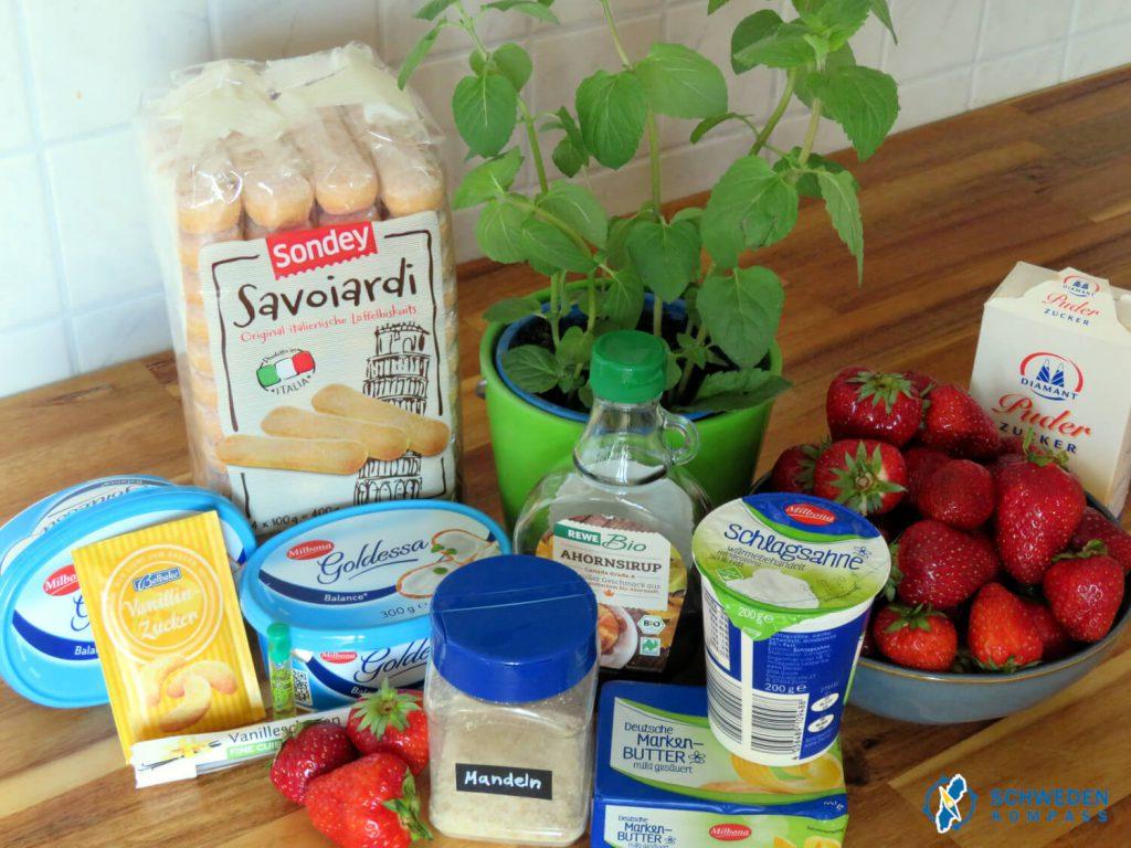 Zutaten für die schwedische Erdbeertorte